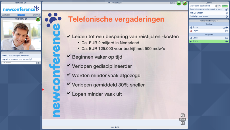 Have a look to the webinar screenshot